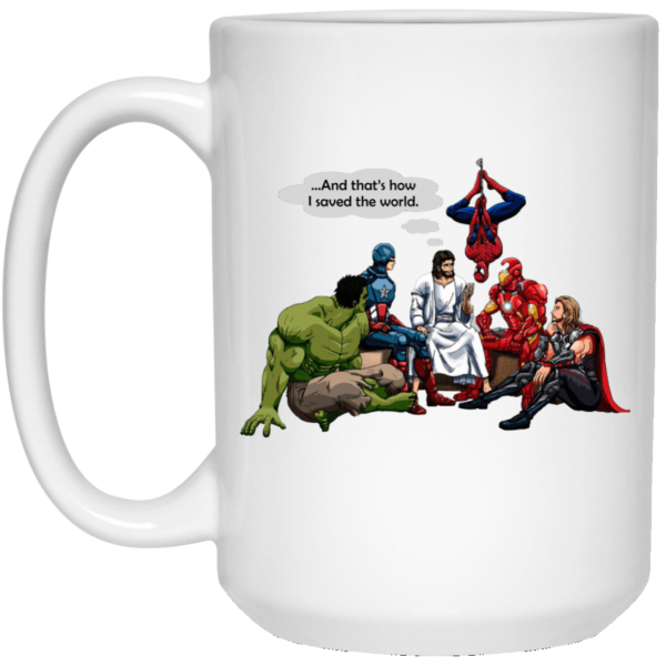 image 1 600x600 - Jesus and Superheroes mug
