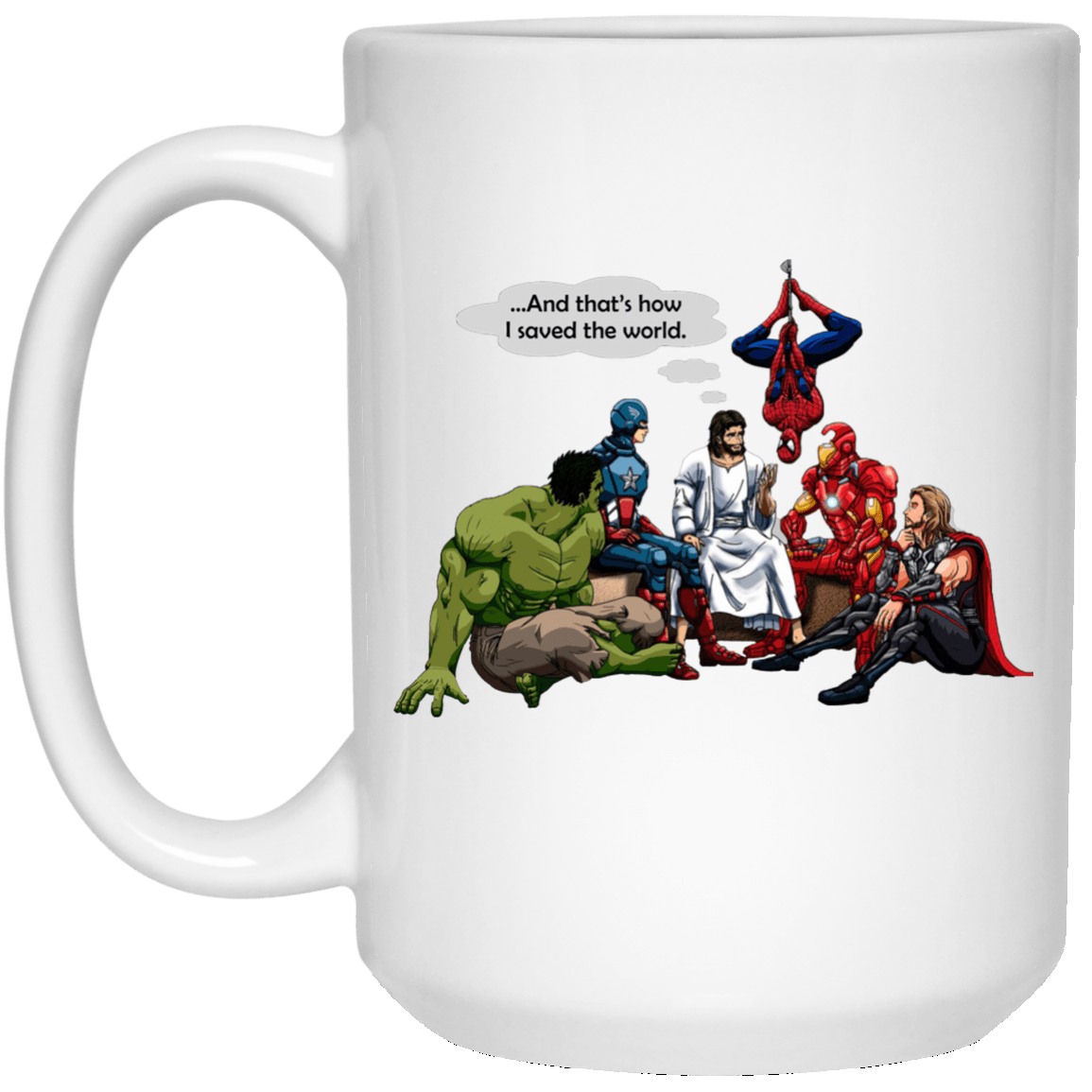 image 1 - Jesus and Superheroes mug