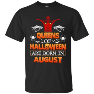 image 1011 300x300 - Queens of Halloween are born in August shirt, tank top, hoodie