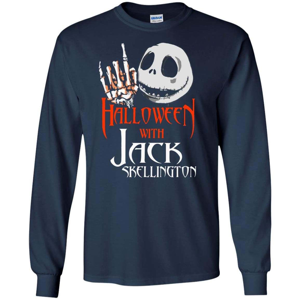 image 1379 - Halloween with Jack Skellington shirt, tank top, sweater