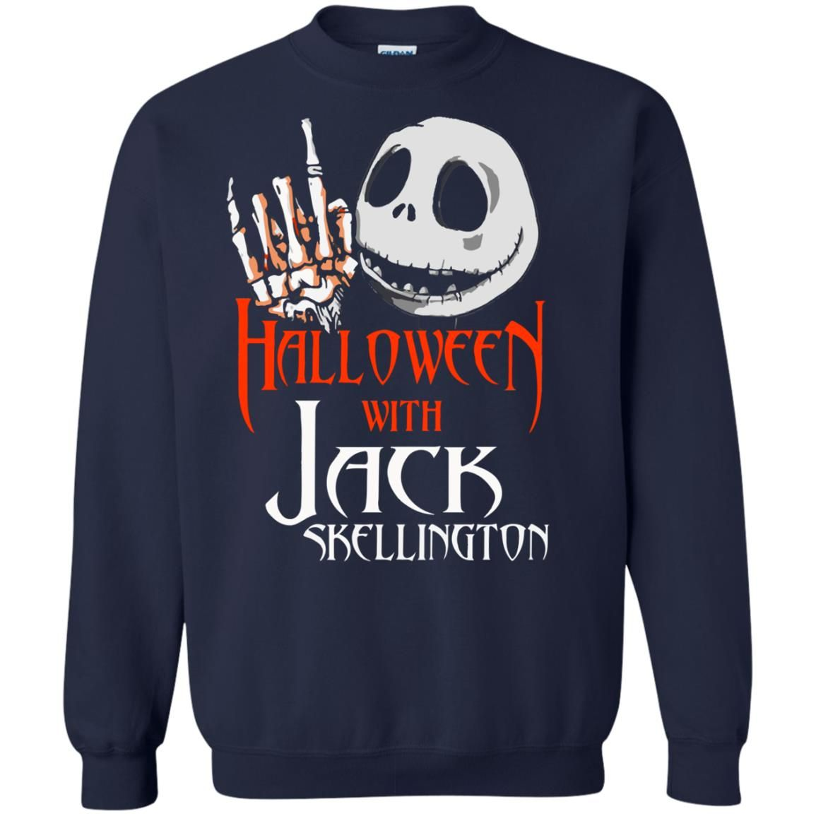 image 1383 - Halloween with Jack Skellington shirt, tank top, sweater