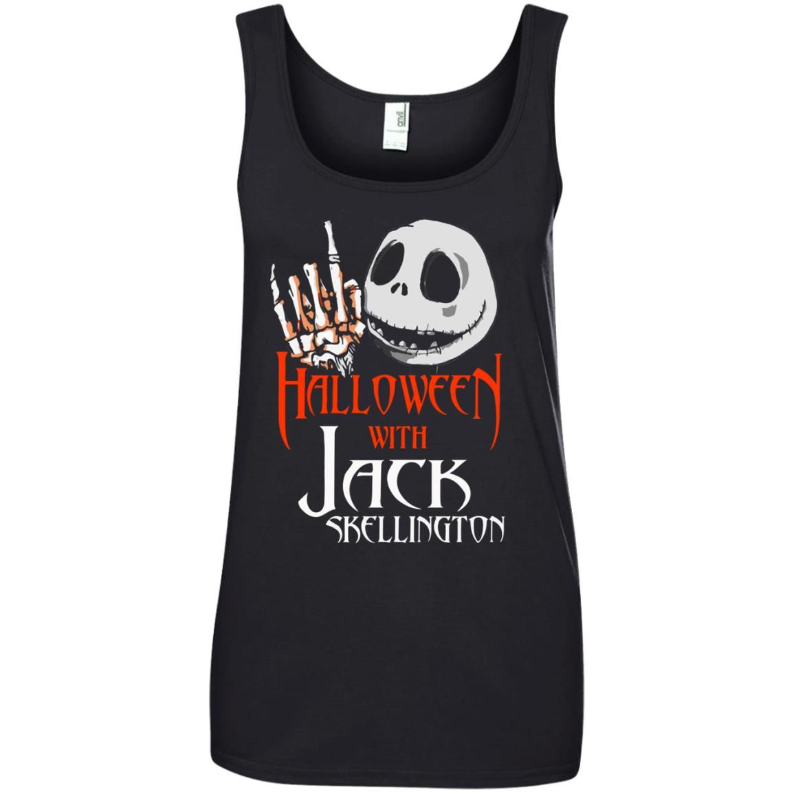 image 1384 - Halloween with Jack Skellington shirt, tank top, sweater