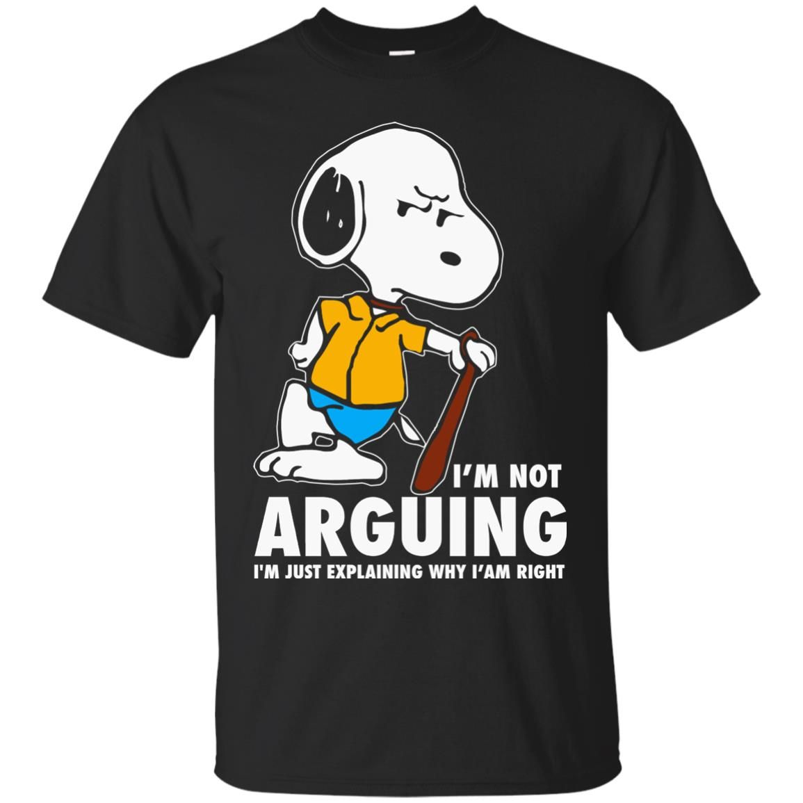 image 1388 - Snoopy: I'm not Arguing I'm just explaining why I'm right shirt, hoodie