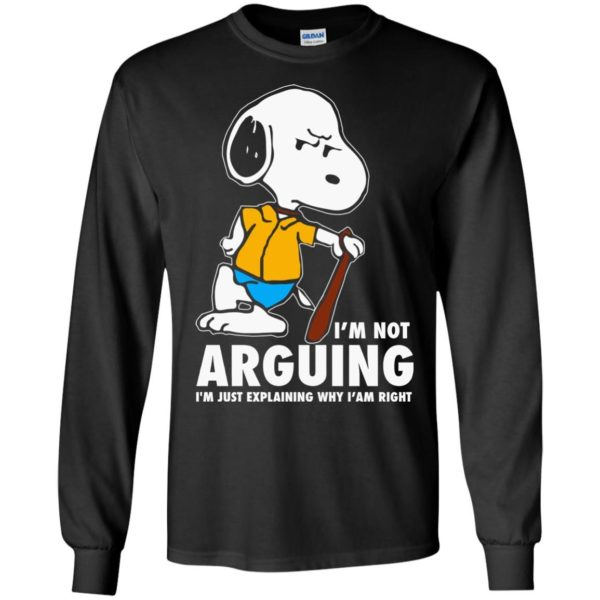 image 1391 600x600 - Snoopy: I'm not Arguing I'm just explaining why I'm right shirt, hoodie