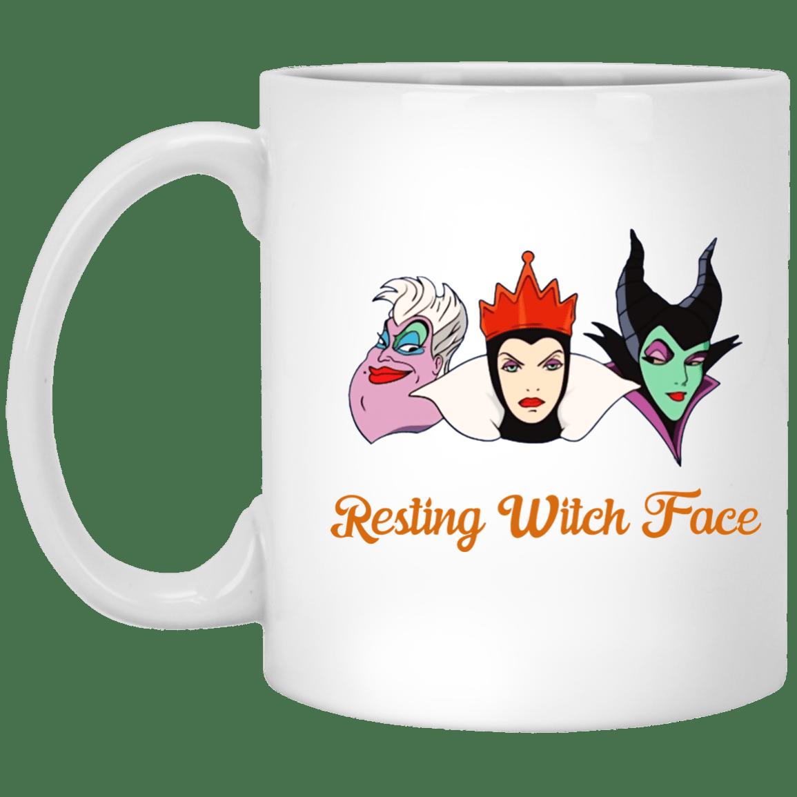 image 14 - Resting Witch Face mug: Funny mug for Halloween