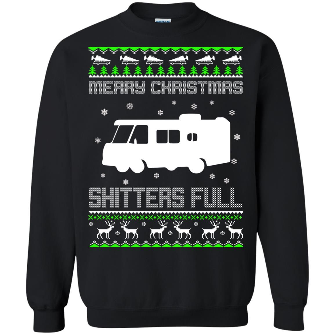 image 1571 - Christmas Vacation: Merry Christmas Shitter's full ugly sweater, hoodie