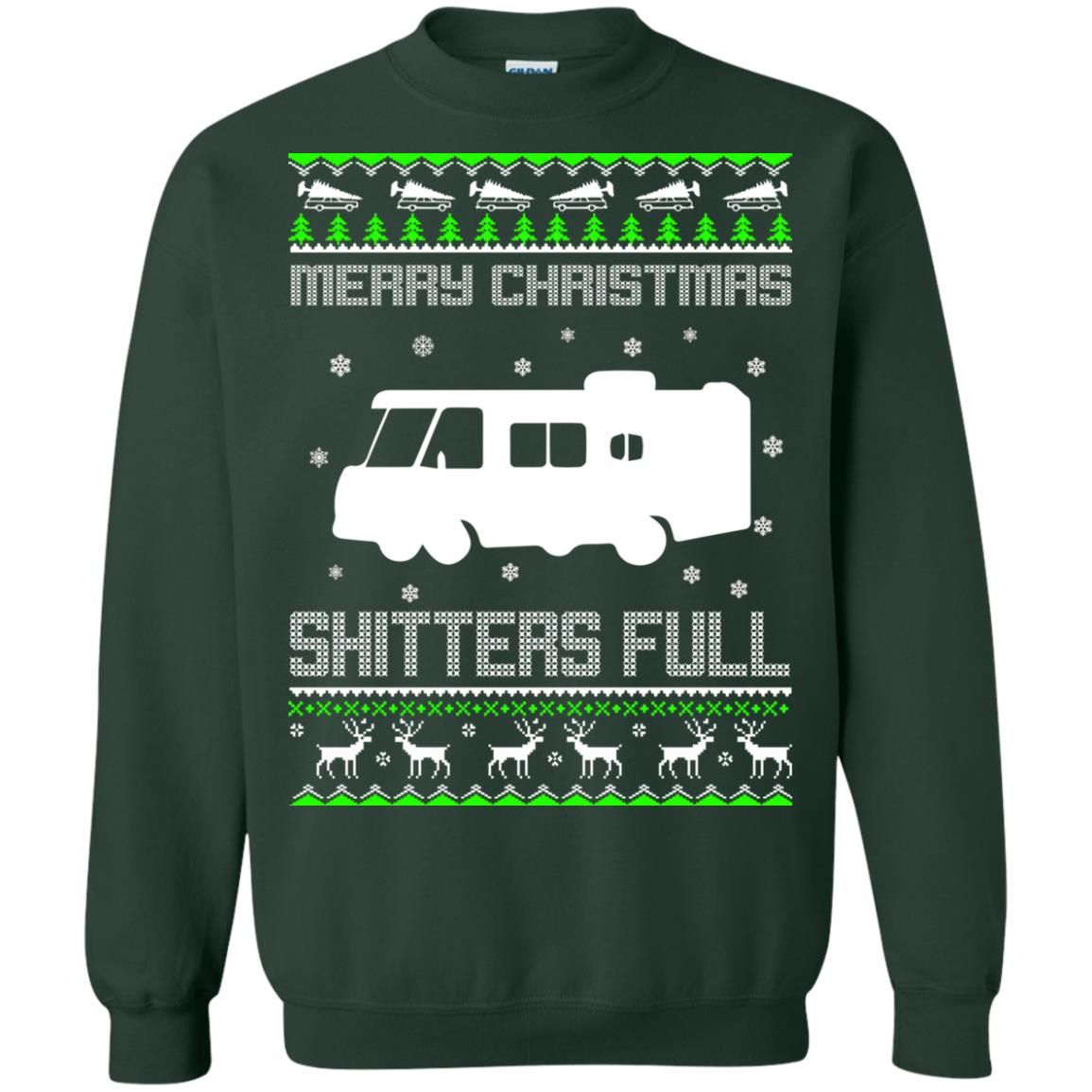 image 1574 - Christmas Vacation: Merry Christmas Shitter's full ugly sweater, hoodie