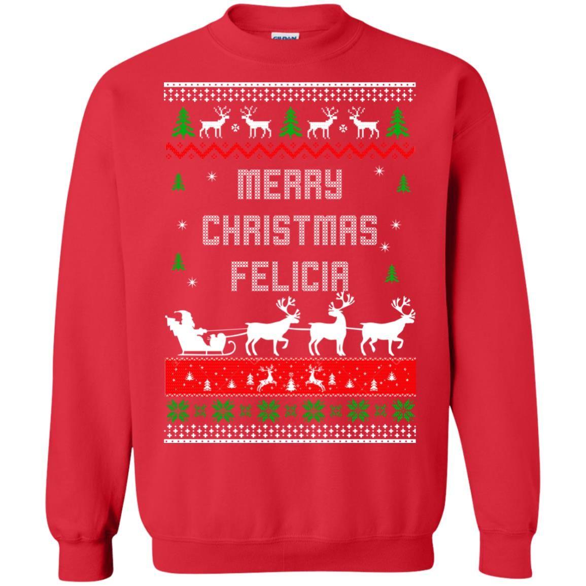 image 1677 - Raxo Merry Christmas Felicia ugly sweater, hoodie