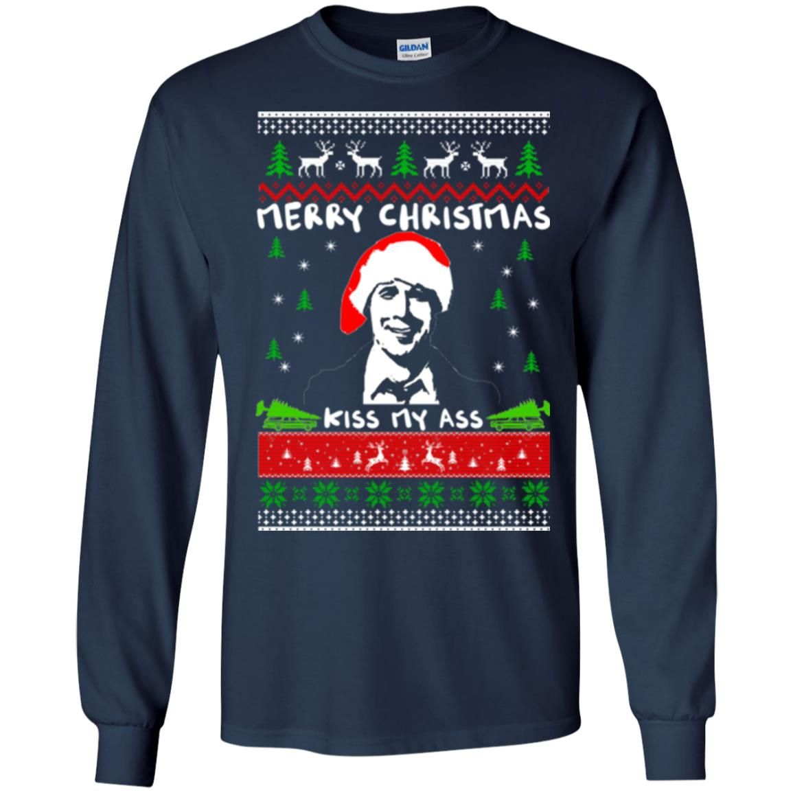 image 1696 - Clark Griswold: Merry Christmas kiss my ass sweater, hoodie, long sleeve