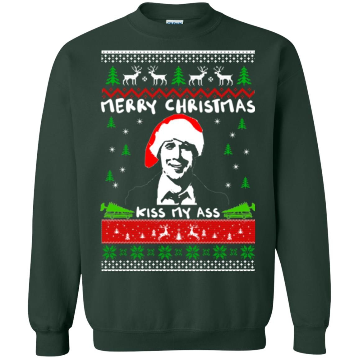 image 1702 - Clark Griswold: Merry Christmas kiss my ass sweater, hoodie, long sleeve