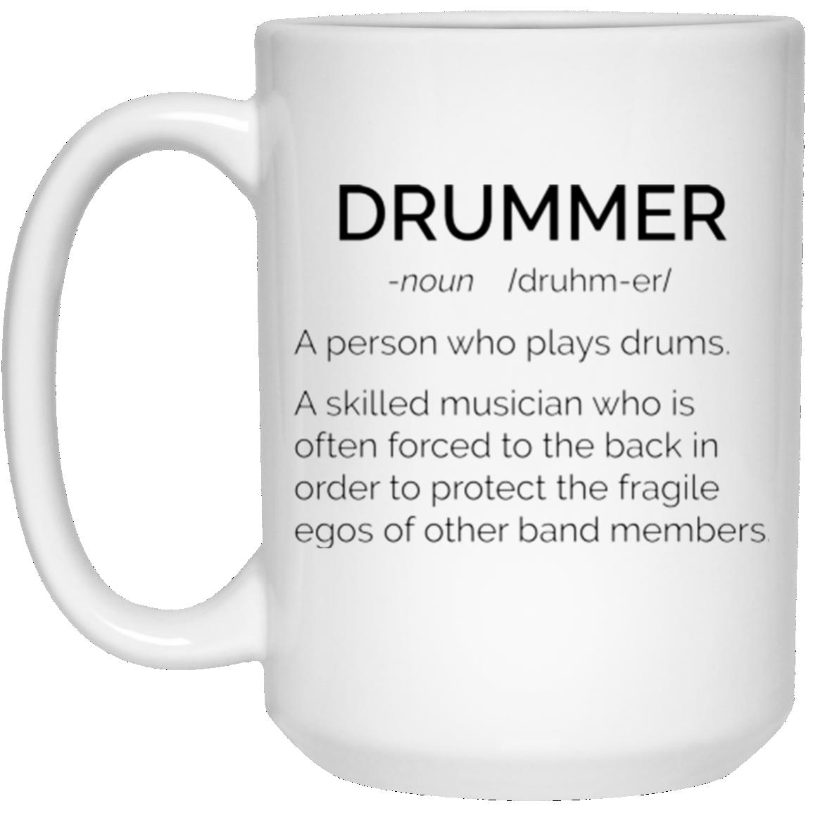 image 19 - Drummer Definition mug: Skilled musician always force to the back