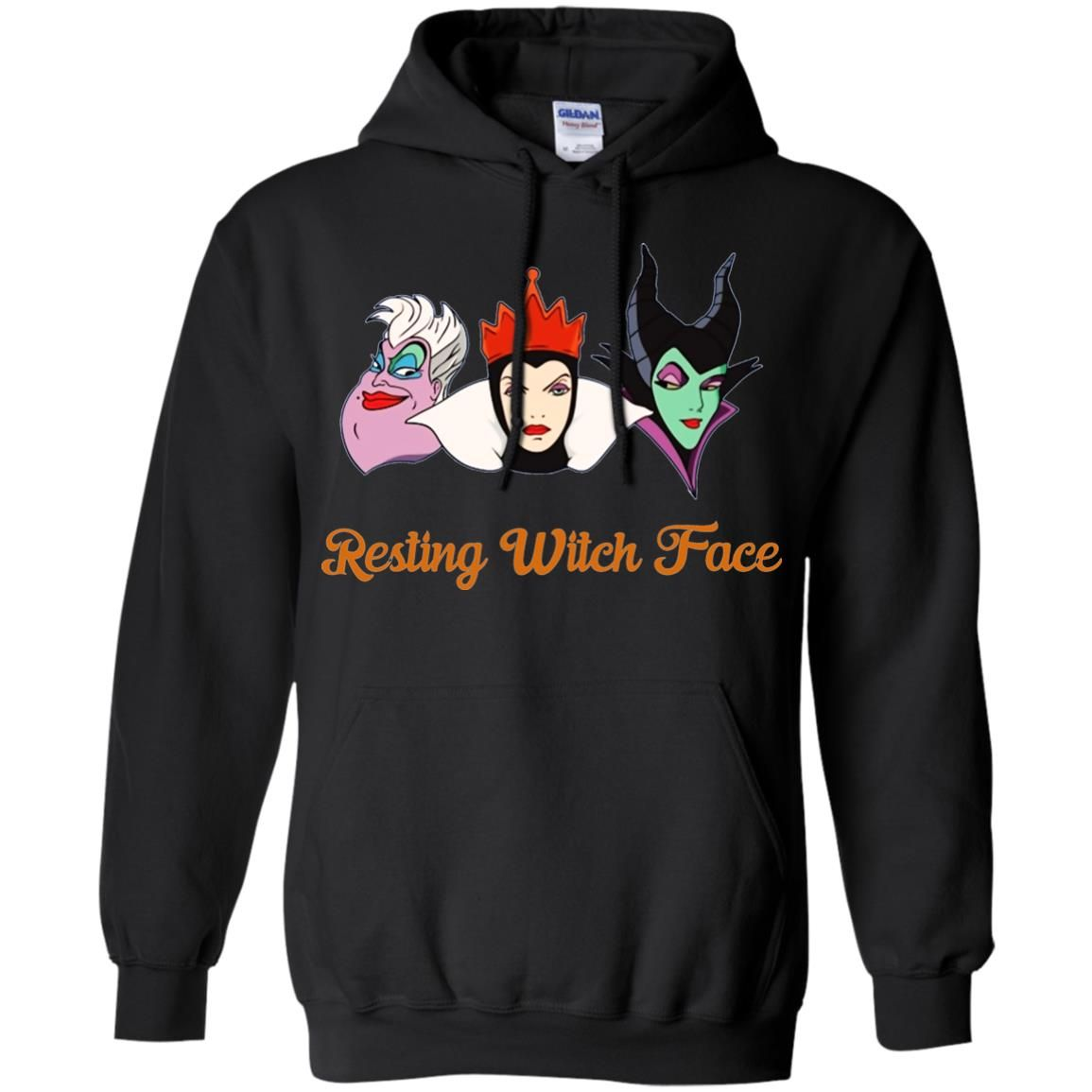 image 1961 - Resting Witch Face shirt for Halloween: Ursula, Maleficent, Evil Queen
