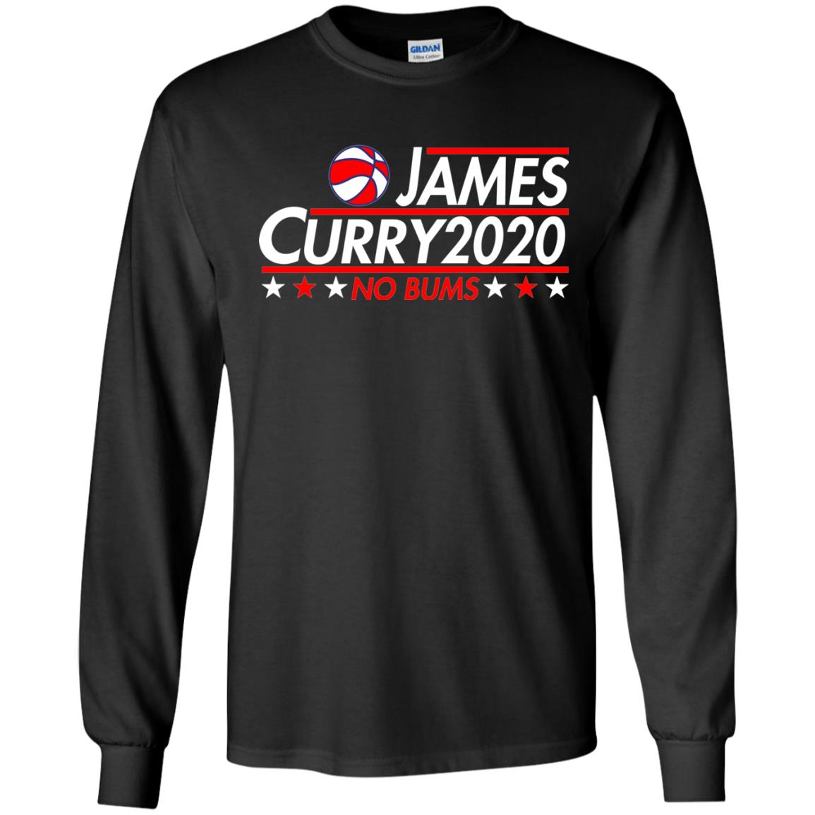 image 2168 - James Curry 2020 shirt No Bums: James & Curry for President