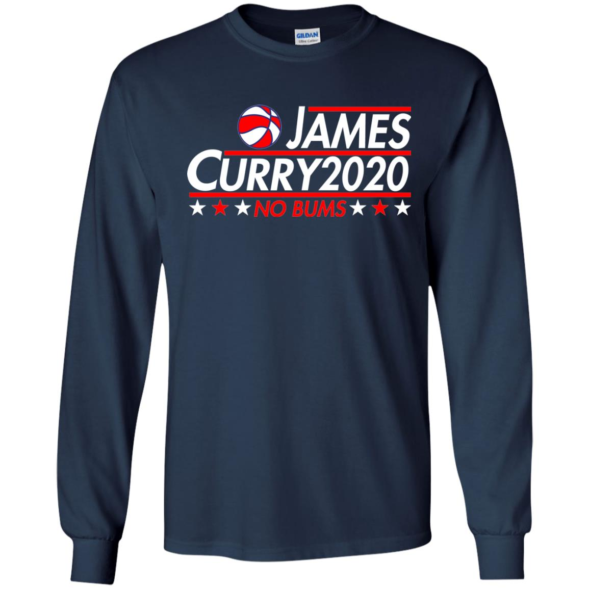 image 2169 - James Curry 2020 shirt No Bums: James & Curry for President