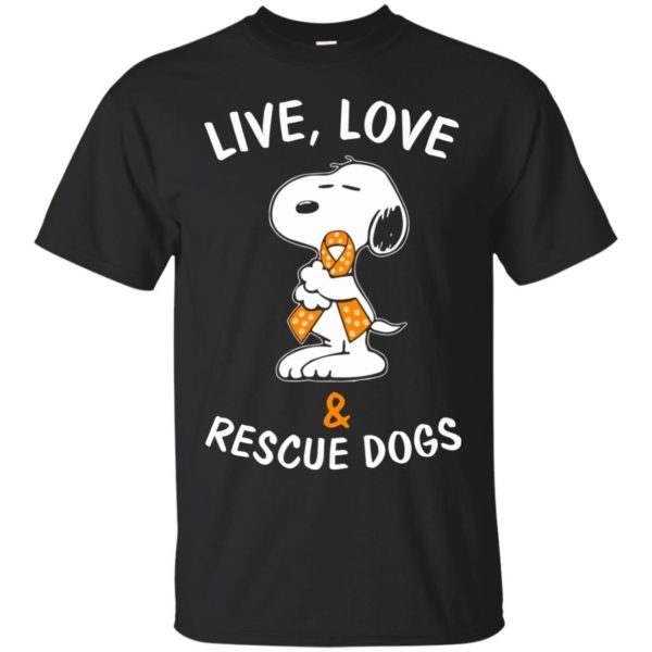 image 2339 600x600 - Snoopy: Live love and rescue dogs shirt, hoodie, sweater