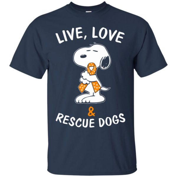 image 2340 600x600 - Snoopy: Live love and rescue dogs shirt, hoodie, sweater