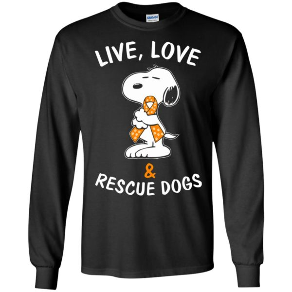 image 2342 600x600 - Snoopy: Live love and rescue dogs shirt, hoodie, sweater