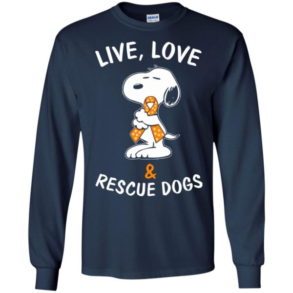 image 2343 600x600 - Snoopy: Live love and rescue dogs shirt, hoodie, sweater