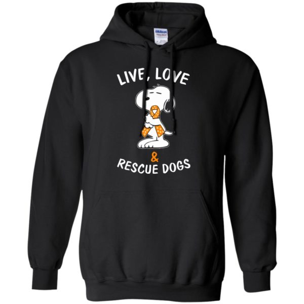 image 2344 600x600 - Snoopy: Live love and rescue dogs shirt, hoodie, sweater