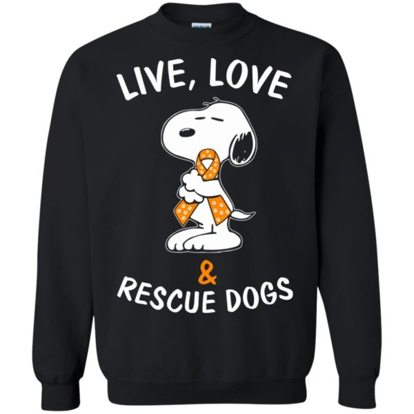 image 2346 600x600 - Snoopy: Live love and rescue dogs shirt, hoodie, sweater