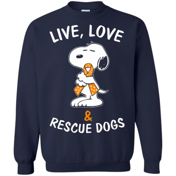 image 2347 600x600 - Snoopy: Live love and rescue dogs shirt, hoodie, sweater