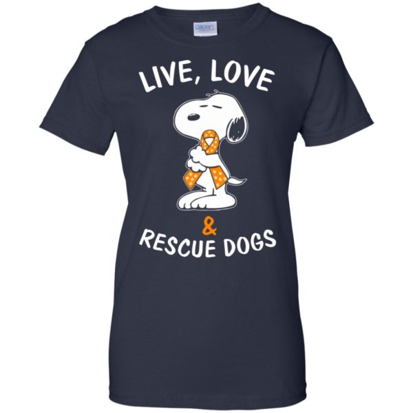 image 2349 600x600 - Snoopy: Live love and rescue dogs shirt, hoodie, sweater