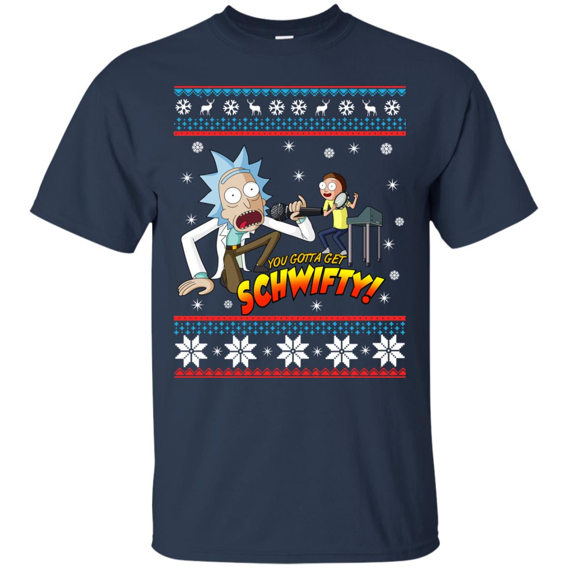 image 2410 - You gotta get Schwifty Ugly Christmas sweater, hoodie