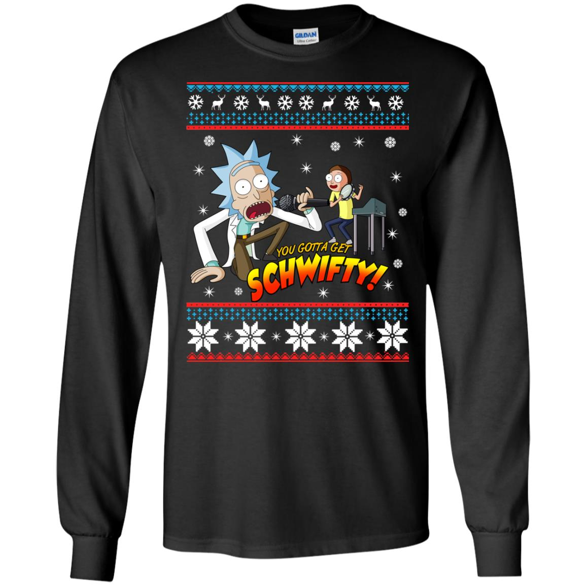 image 2411 - You gotta get Schwifty Ugly Christmas sweater, hoodie