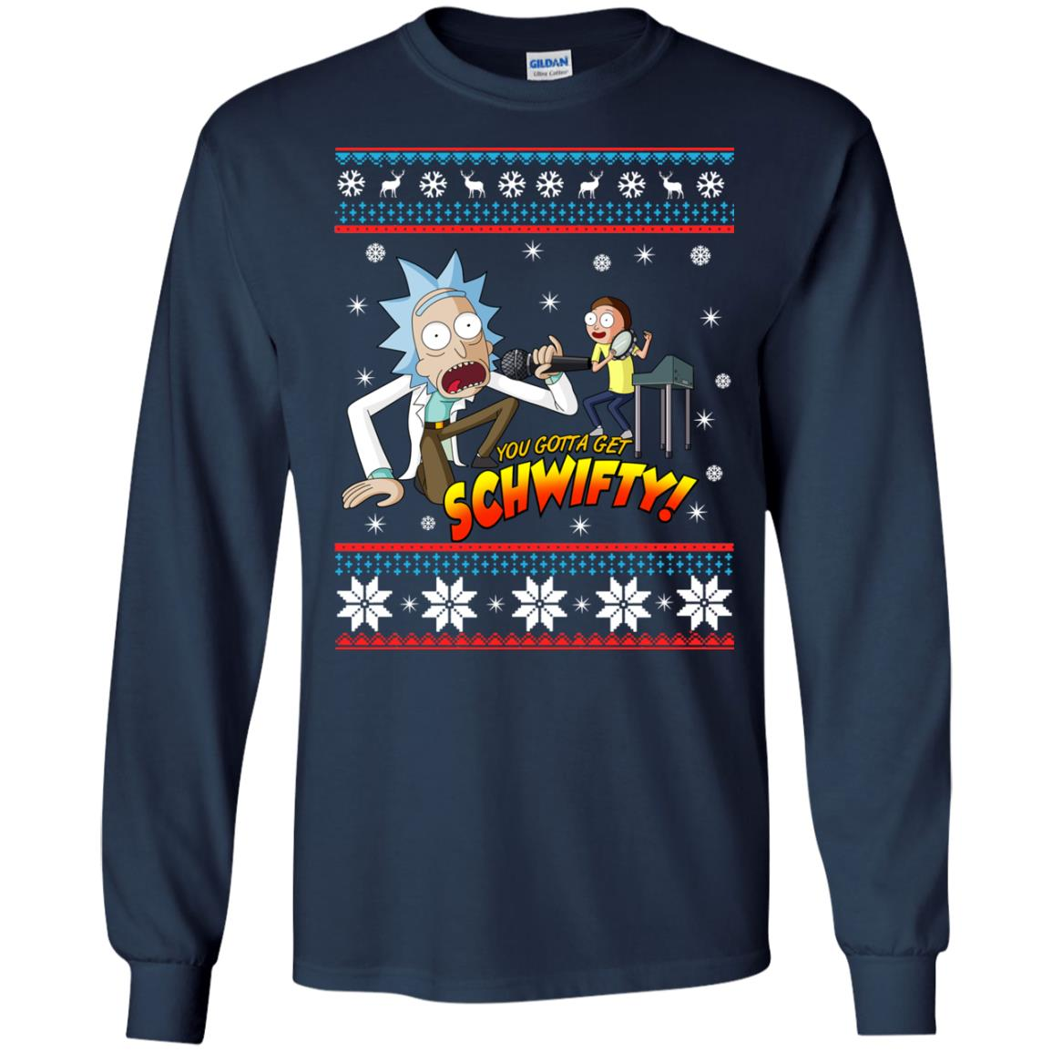 image 2412 - You gotta get Schwifty Ugly Christmas sweater, hoodie
