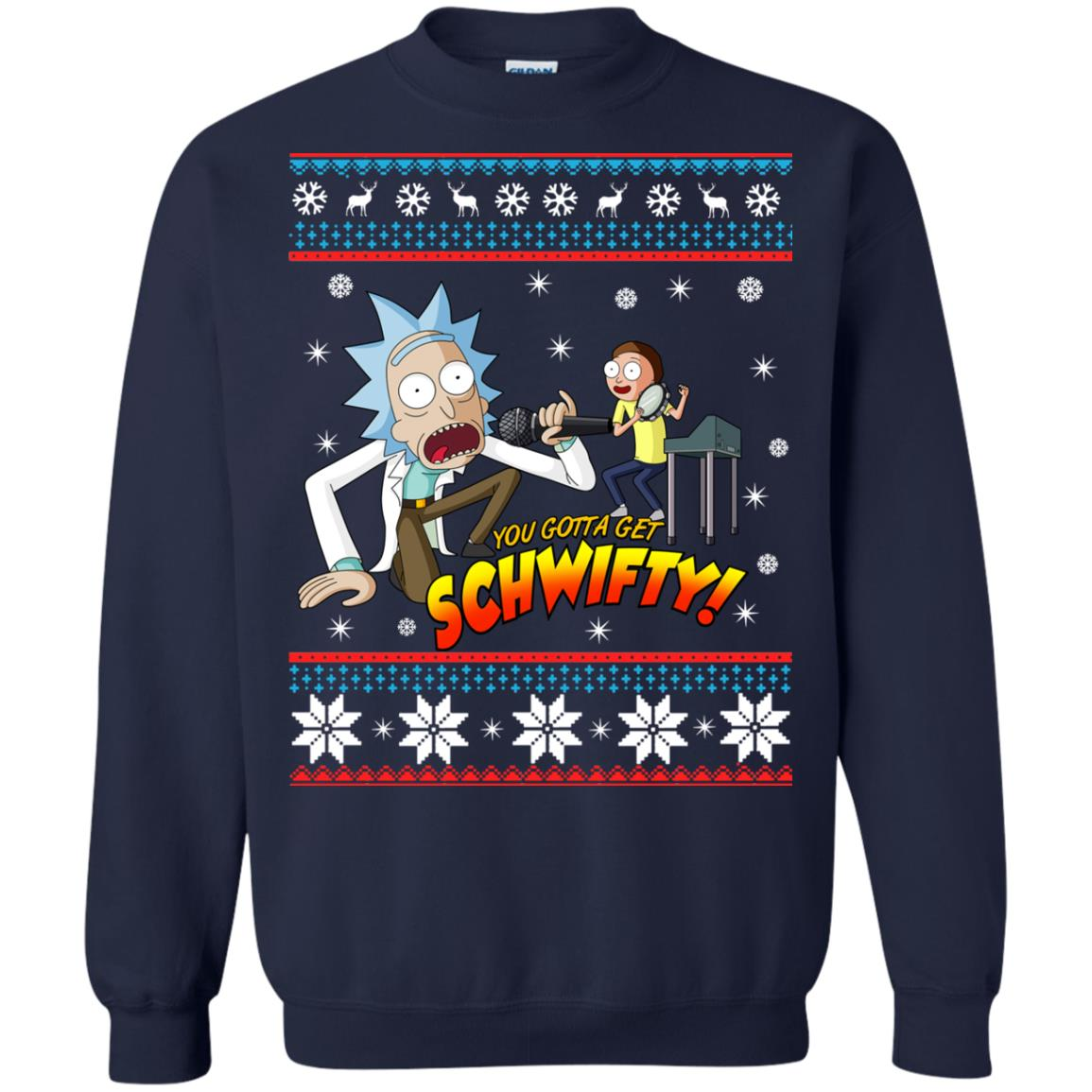 image 2416 - You gotta get Schwifty Ugly Christmas sweater, hoodie