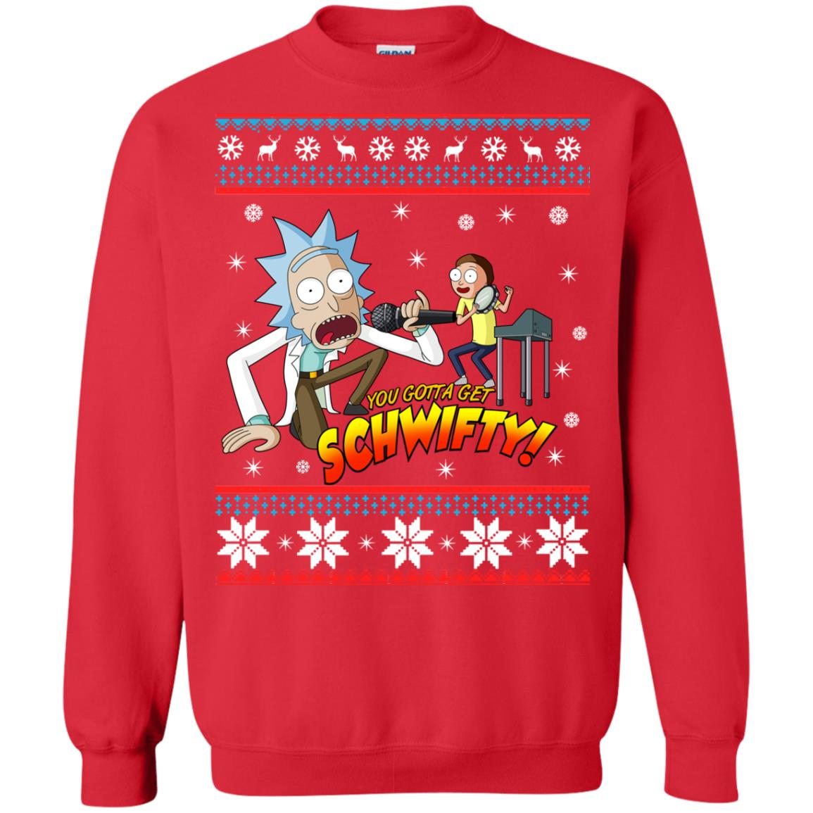 image 2417 - You gotta get Schwifty Ugly Christmas sweater, hoodie