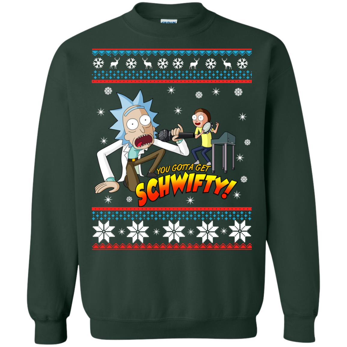 image 2418 - You gotta get Schwifty Ugly Christmas sweater, hoodie