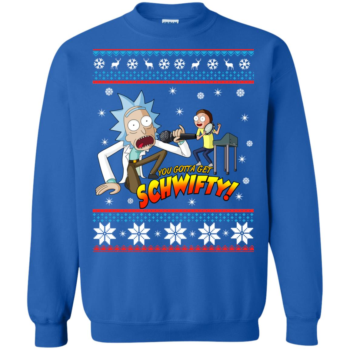 image 2419 - You gotta get Schwifty Ugly Christmas sweater, hoodie