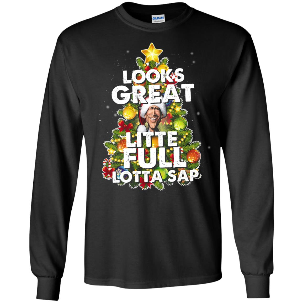 image 2483 - Looks great little full lotta sap ugly Christmas sweater, hoodie