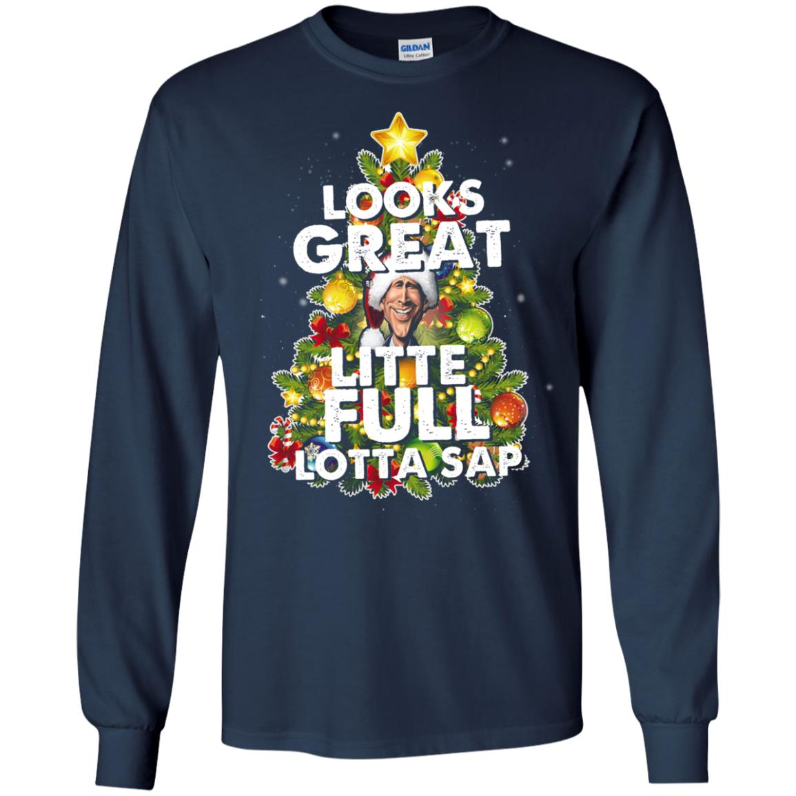 image 2484 - Looks great little full lotta sap ugly Christmas sweater, hoodie