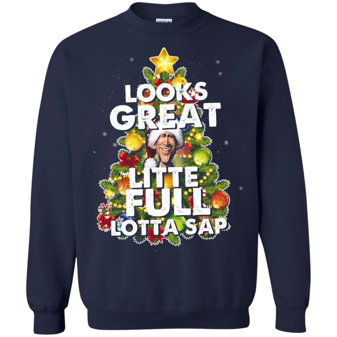 image 2488 - Looks great little full lotta sap ugly Christmas sweater, hoodie