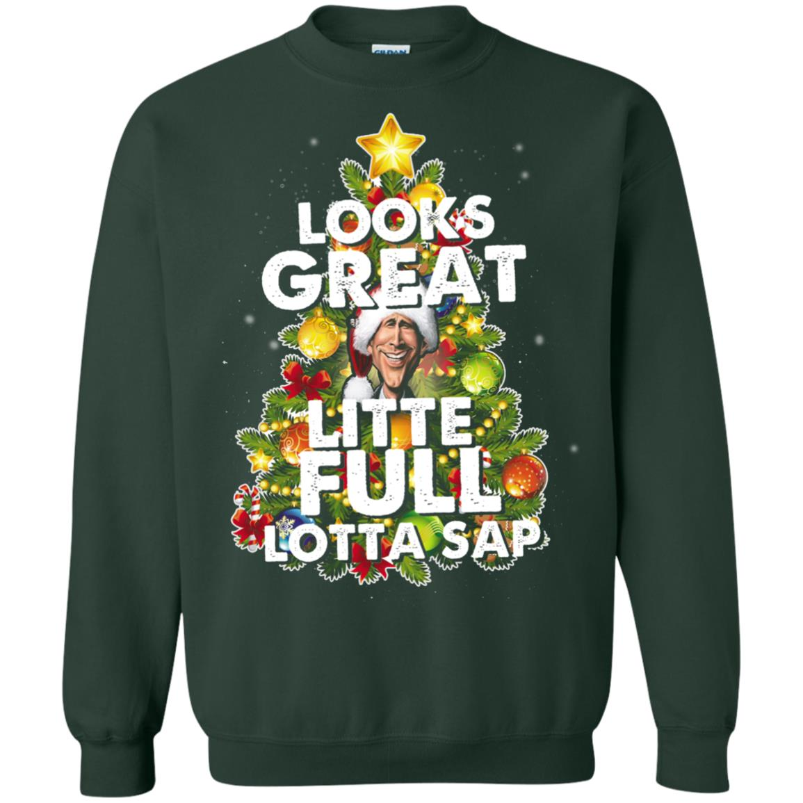 image 2490 - Looks great little full lotta sap ugly Christmas sweater, hoodie