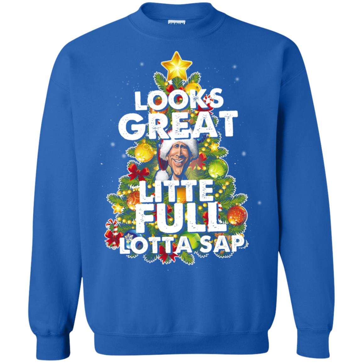 image 2491 - Looks great little full lotta sap ugly Christmas sweater, hoodie