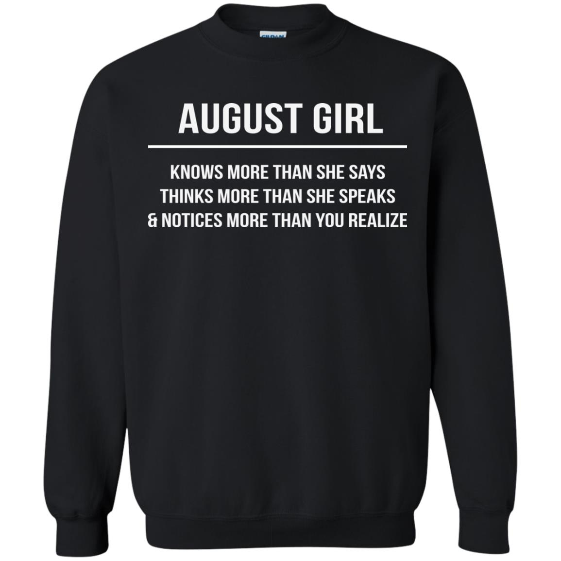 image 2559 - August girl knows more than she says shirt, tank top, hoodie