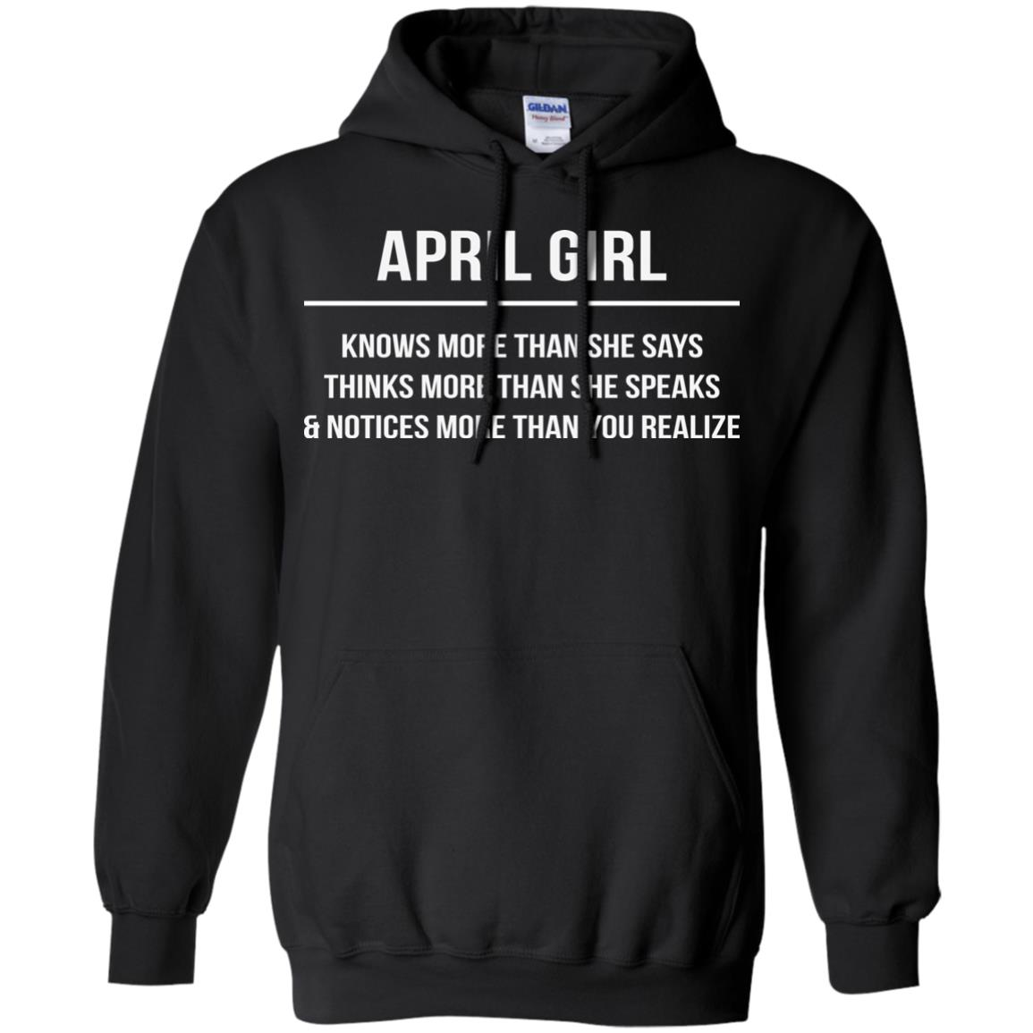 image 2593 - April girl knows more than she says shirt, tank top, hoodie