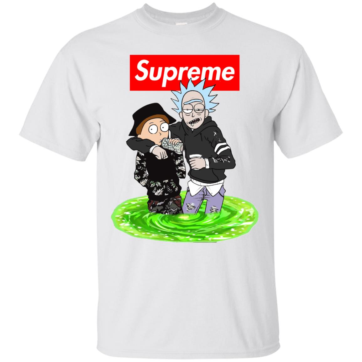 image 2739 - Supreme style Rick and Morty shirt & sweater
