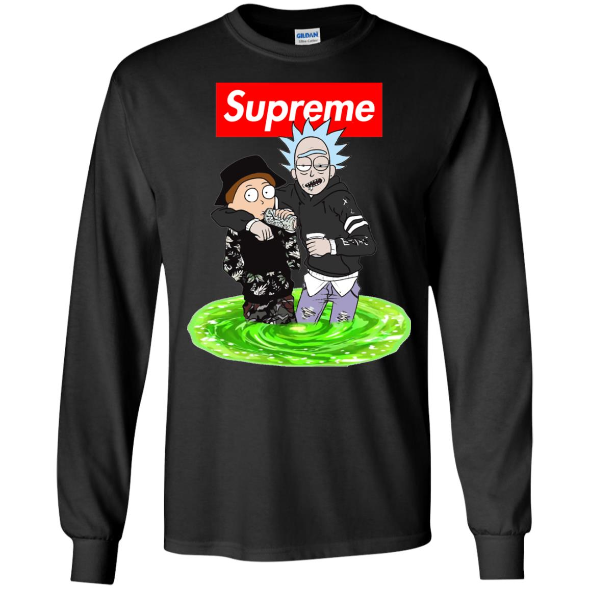 image 2743 - Supreme style Rick and Morty shirt & sweater