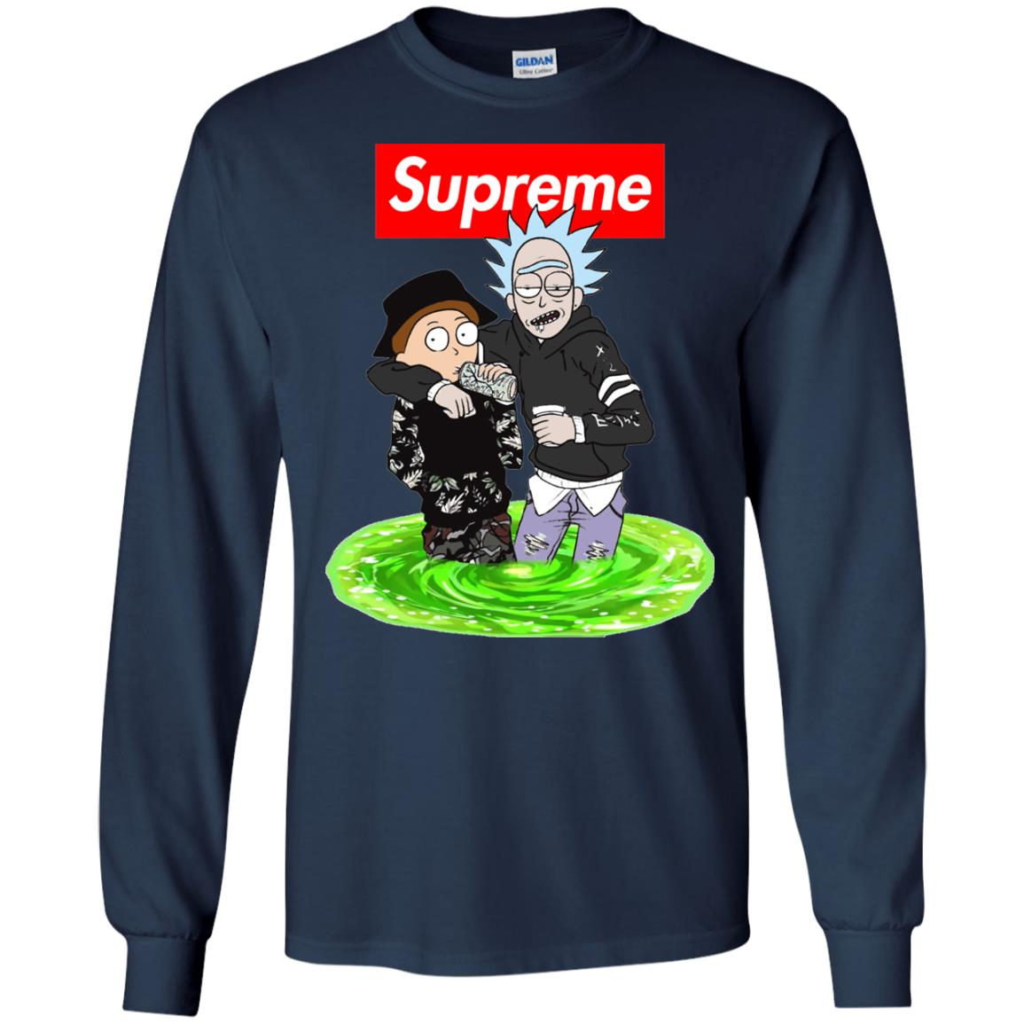 image 2744 - Supreme style Rick and Morty shirt & sweater