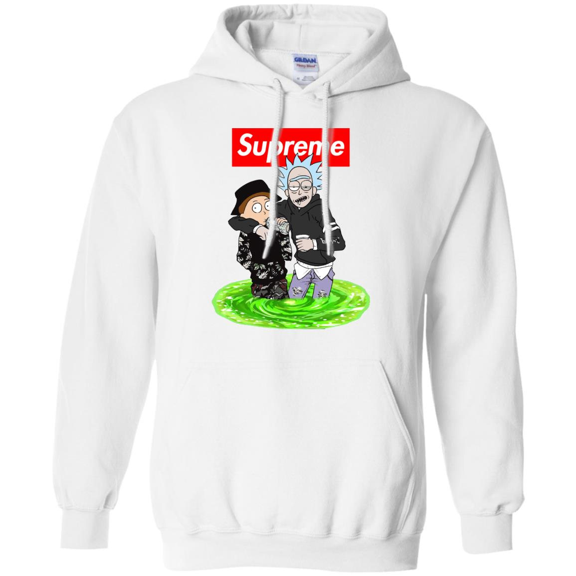 image 2745 - Supreme style Rick and Morty shirt & sweater
