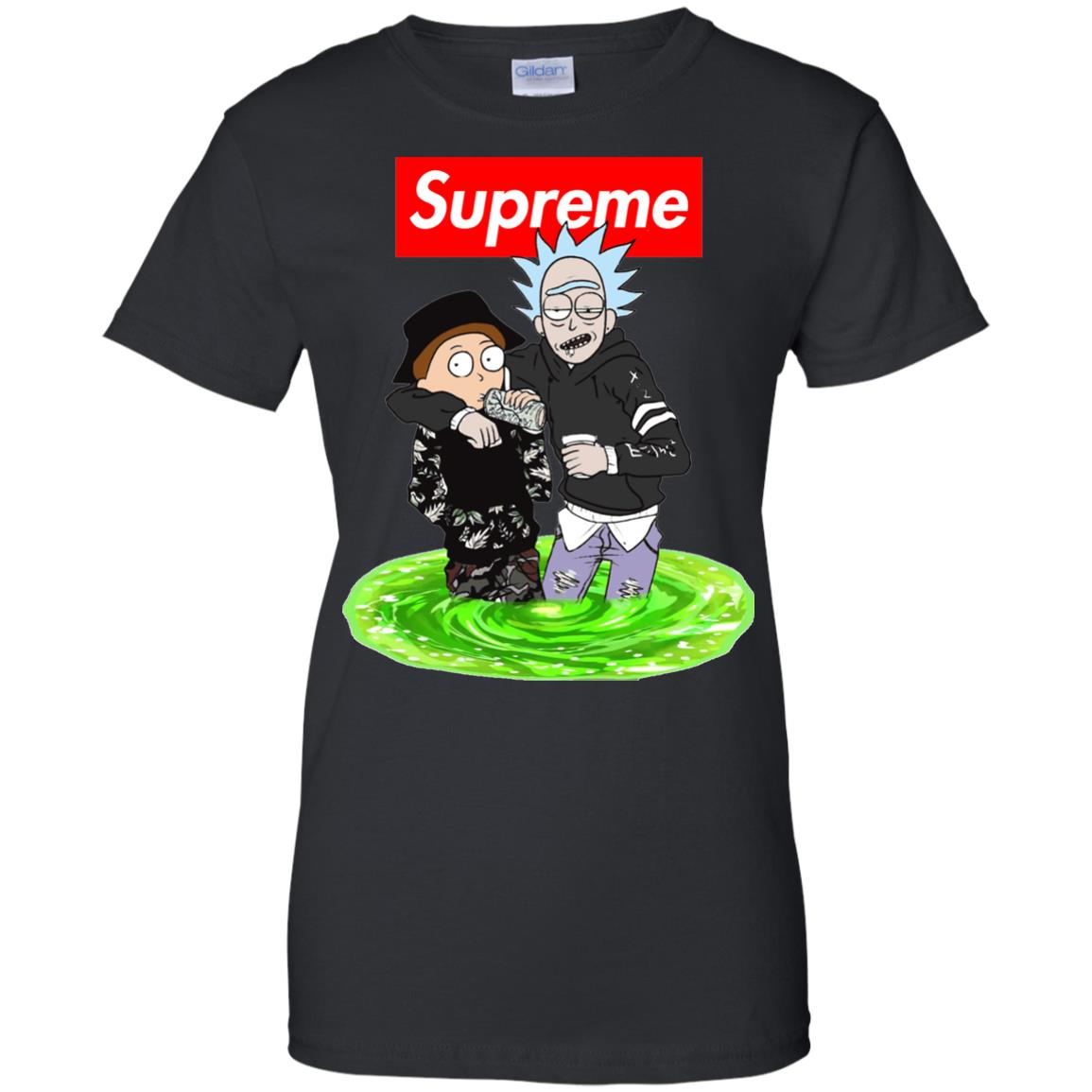 image 2748 - Supreme style Rick and Morty shirt & sweater