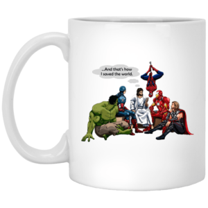 image 300x300 - Jesus and Superheroes mug