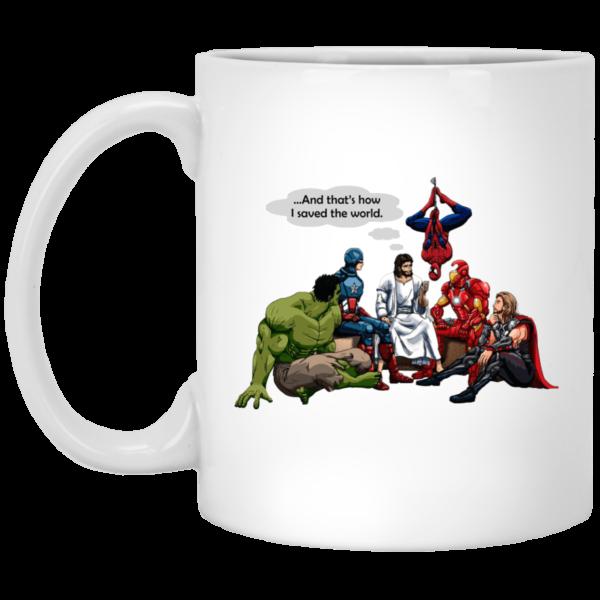 image 600x600 - Jesus and Superheroes mug