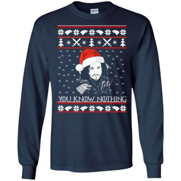 image 769 600x600 - Jon Snow: You Know Nothing Ugly Christmas Sweater, long sleeve