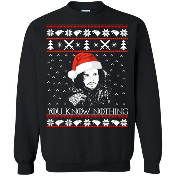 image 772 600x600 - Jon Snow: You Know Nothing Ugly Christmas Sweater, long sleeve