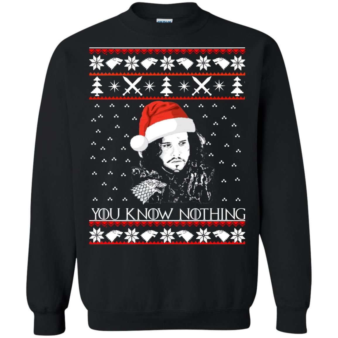 image 772 - Jon Snow: You Know Nothing Ugly Christmas Sweater, long sleeve